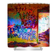 Neon Bunkers Shower Curtain