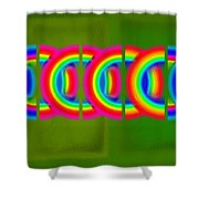 Neon Chain Shower Curtain
