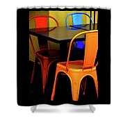 Neon Chairs 1 Shower Curtain