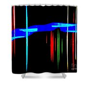 New Orleans Neon Christmas Frequency Abstract 1  Shower Curtain