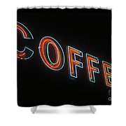 Neon Coffee Shower Curtain