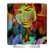 Neon Color Bob Dylan Shower Curtain