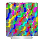 Neon Color Links Shower Curtain