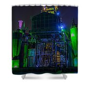 Neon Color Machinery Shower Curtain