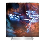 Neon Dance Shower Curtain
