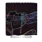 Neon Dragon Fly Shower Curtain