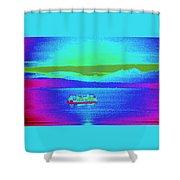 Neon Ferry Shower Curtain