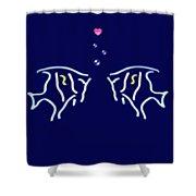 Neon Fish Love Shower Curtain