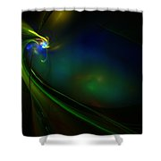 Neon God Shower Curtain