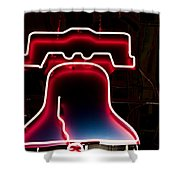Neon Liberty Shower Curtain