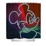 Neon Mickey Shower Curtain