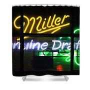 Neon Miller Beer Shower Curtain
