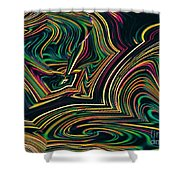 Neon Night Life Shower Curtain