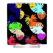 Neon Palm  Shower Curtain
