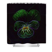Neon Pansy Shower Curtain