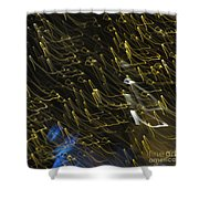 Neon Percussion Shower Curtain