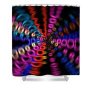 Neon Rave Blur Shower Curtain