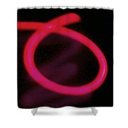 Neon Red Shower Curtain