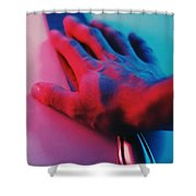 Neon Retrica Shower Curtain