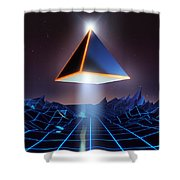 Neon Road  Shower Curtain