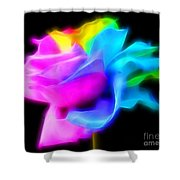 Neon Romance Shower Curtain