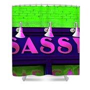 Neon Sassy Shower Curtain