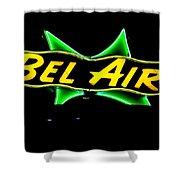 Neon Sign - Bel Air Motel - Wildwood Shower Curtain