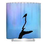 Neon Silhouette Shower Curtain