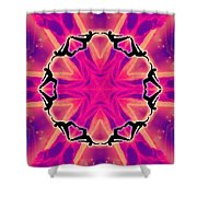 Neon Slipstream Shower Curtain