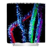 Neon Sparkling Straws Shower Curtain by Marc Garrido