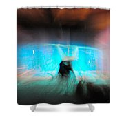 Neon Stick Shower Curtain