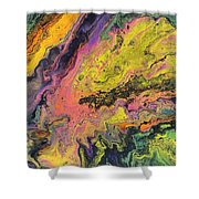 Neon Swirl Shower Curtain
