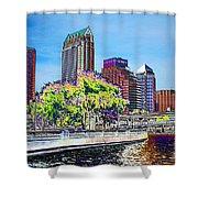 Neon Tampa Shower Curtain