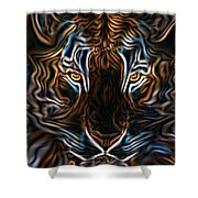 Neon Tigress Shower Curtain