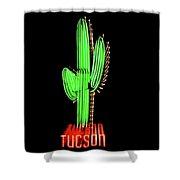 Neon Tucson Cactus Shower Curtain