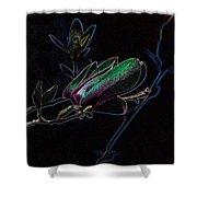 Neon Tulip Tree 5090 Shower Curtain
