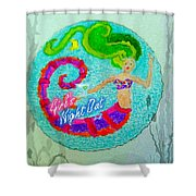 Neon Undersea Invitation Girls Night Out Shower Curtain