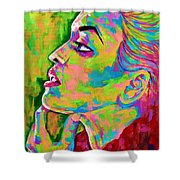Neon Vibes Painting Shower Curtain