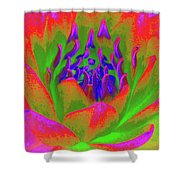 Neon Water Lily 02 - Photopower 3371 Shower Curtain