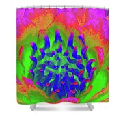 Neon Water Lily 03 - Photopower 3372 Shower Curtain