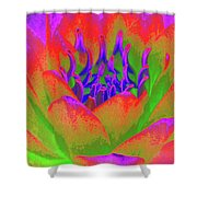 Neon Water Lily - Photopower 3370 Shower Curtain