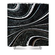 Neon - Curves 1 Shower Curtain