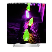 Neon Xlights Shower Curtain