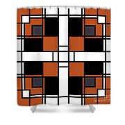 Neoplasticism Symmetrical Pattern In Tijuna Gamboge Shower Curtain