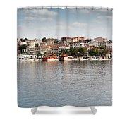 Neos Marmaras Greece Summer Vacation Shower Curtain