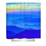 Nepal Sunrise Shower Curtain