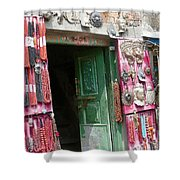 Nepalese Jewelry Shop Shower Curtain