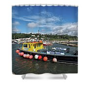 Neptune At The Harbour Shower Curtain