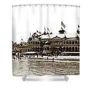 Neptune Casino And Onion-domed Bandstand, Santa Cruz Beach Circa 1904 Shower Curtain
