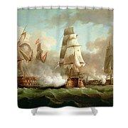 Neptune Engaging Trafalgar Shower Curtain by J Francis Sartorius
